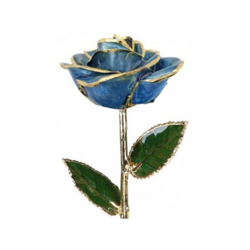 Sartor Hamann Signature Light Blue Rose - 24KT Trimmed
