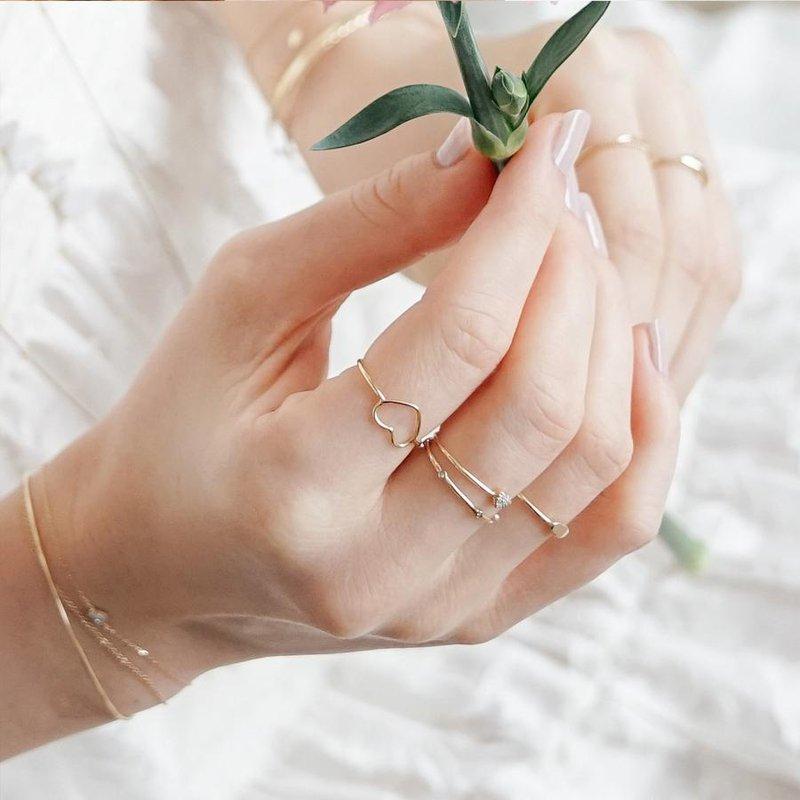 Aurelie Gi Jane Open Heart Ring