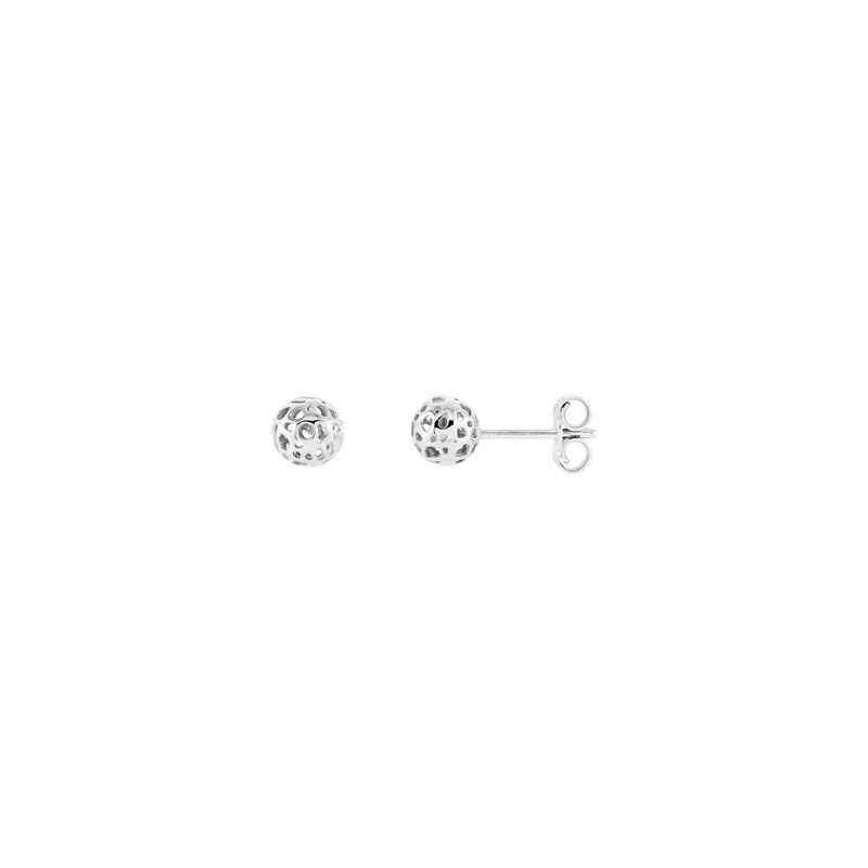 Sartor Hamann Signature 14K White Gold Ball Earrings