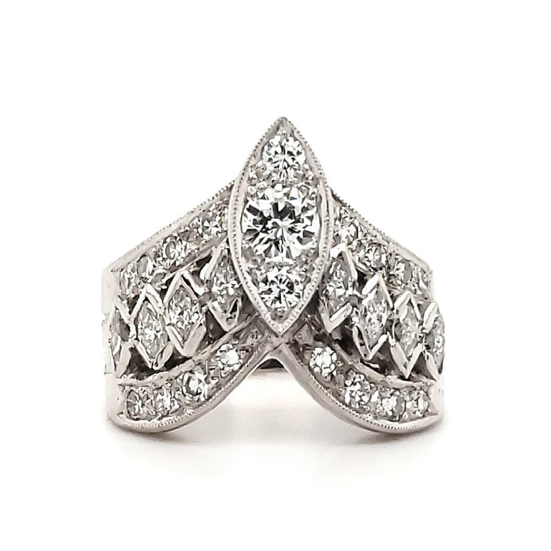 Estate Collection Marquise Crown Ring