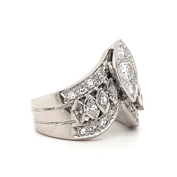 Marquise Crown Ring