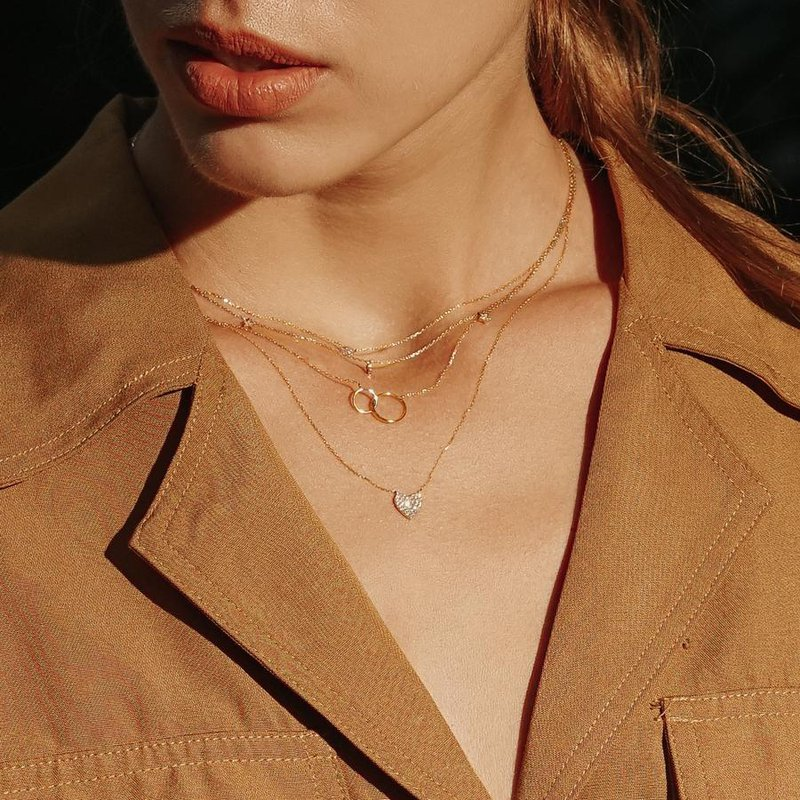 Aurelie Gi Helen Interlinked Circles Necklace