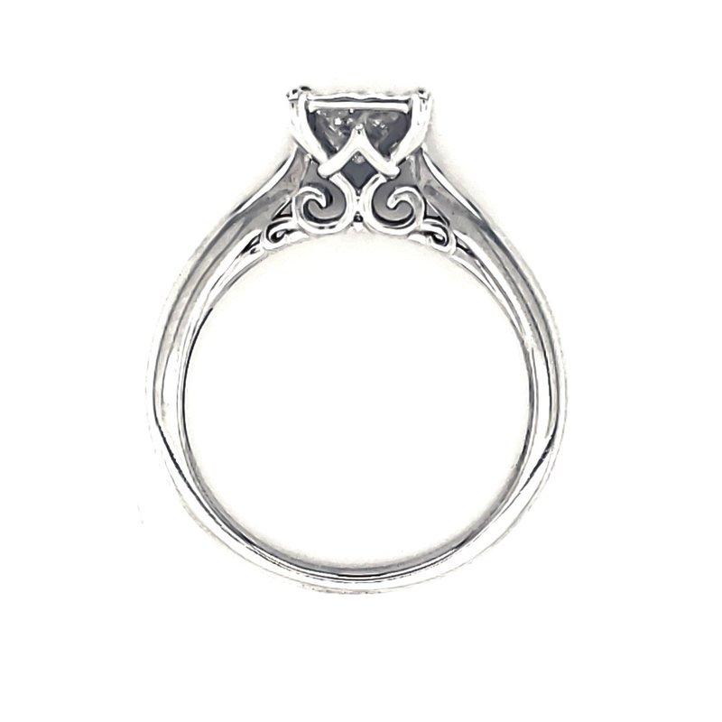Estate Collection Vintage Inspired Princess Engagement Ring