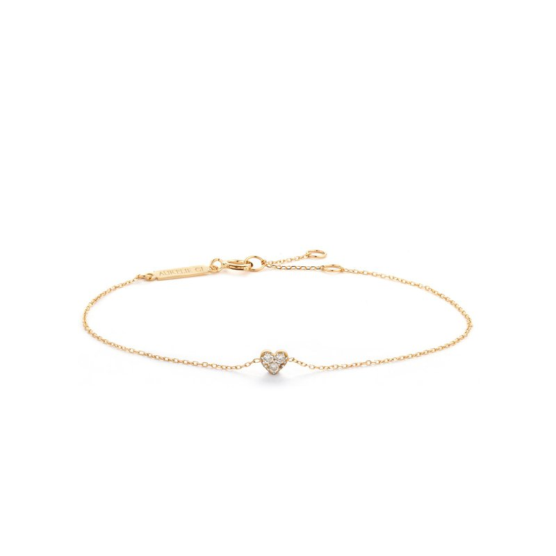 Aurelie Gi Sophie Diamond Heart Bracelet
