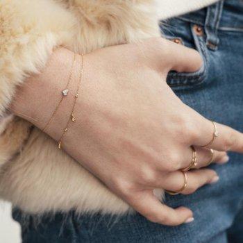 Sophie Diamond Heart Bracelet