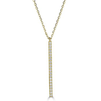 Diamond Vertical Bar Pendant