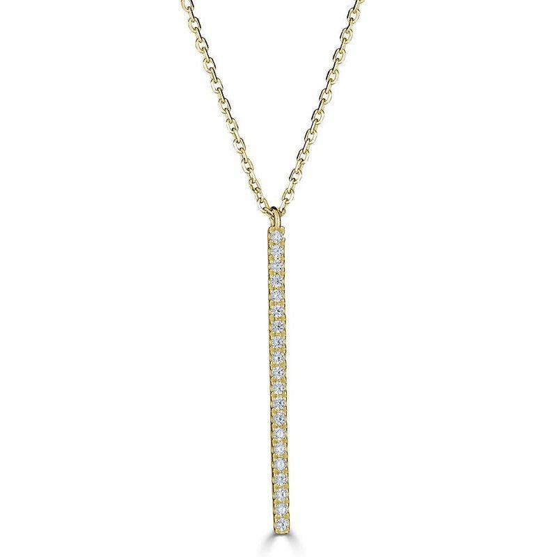 Sartor Hamann Signature Diamond Vertical Bar Pendant