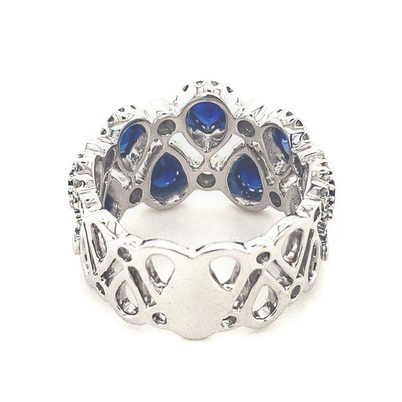 Sartor Hamann Closeouts Diamond and Sapphire Ring