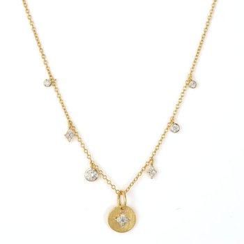 18K Gold Floating Charm Necklace