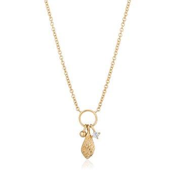Alma Diamond Charm Necklace