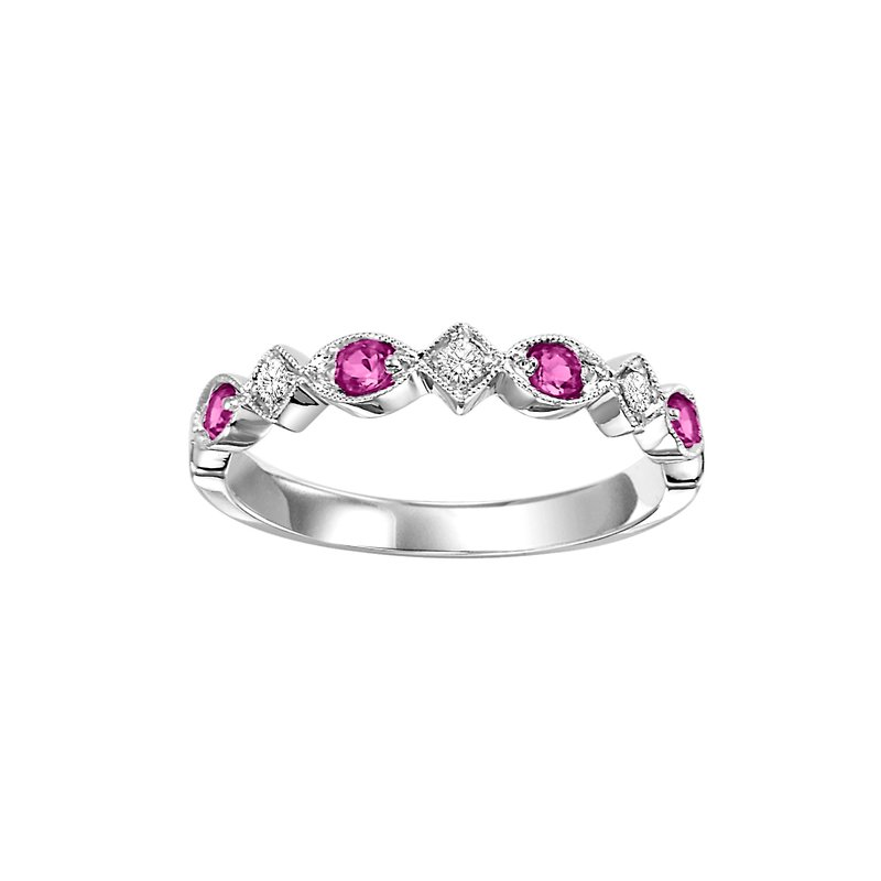 Sartor Hamann Signature Ruby Mixable Birthstone Rings in 4 Styles