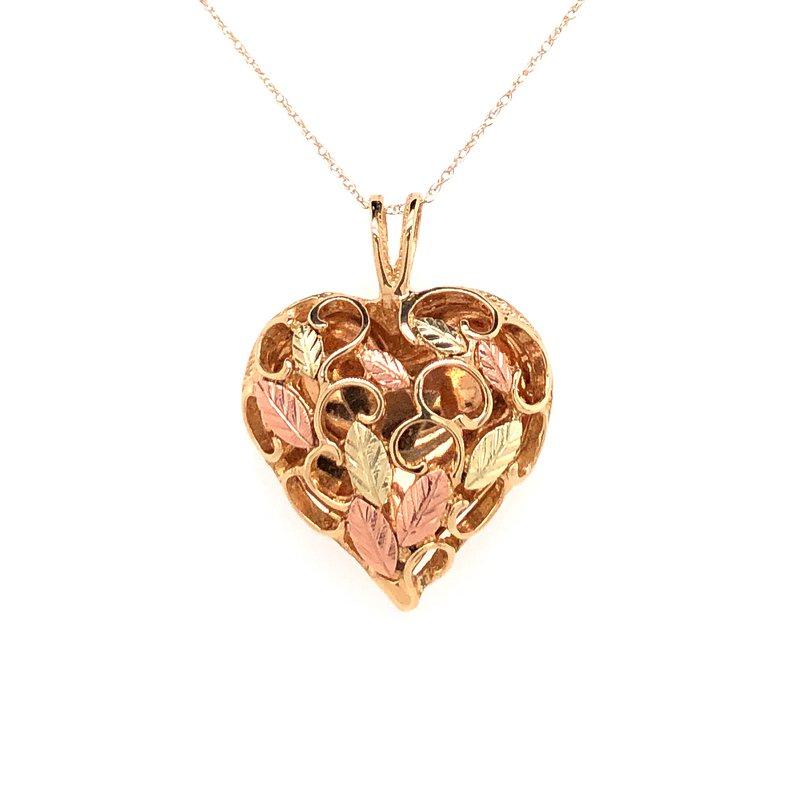 Estate Collection Black Hills Gold Heart Pendant
