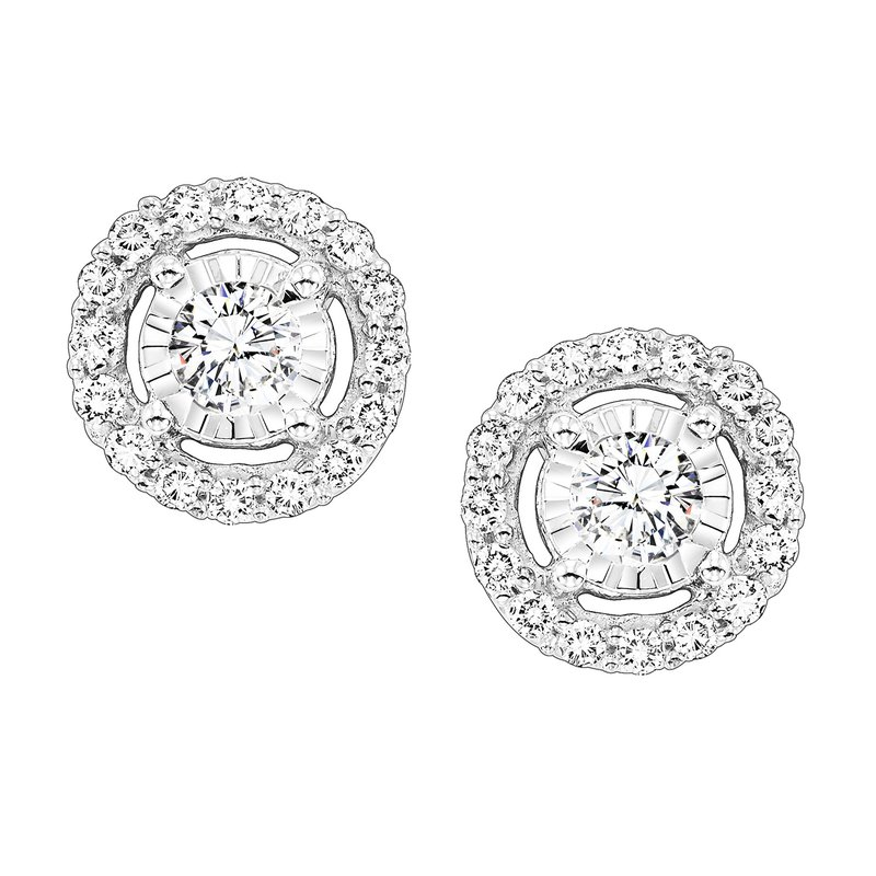 Sartor Hamann Signature Diamond Halo Earrings