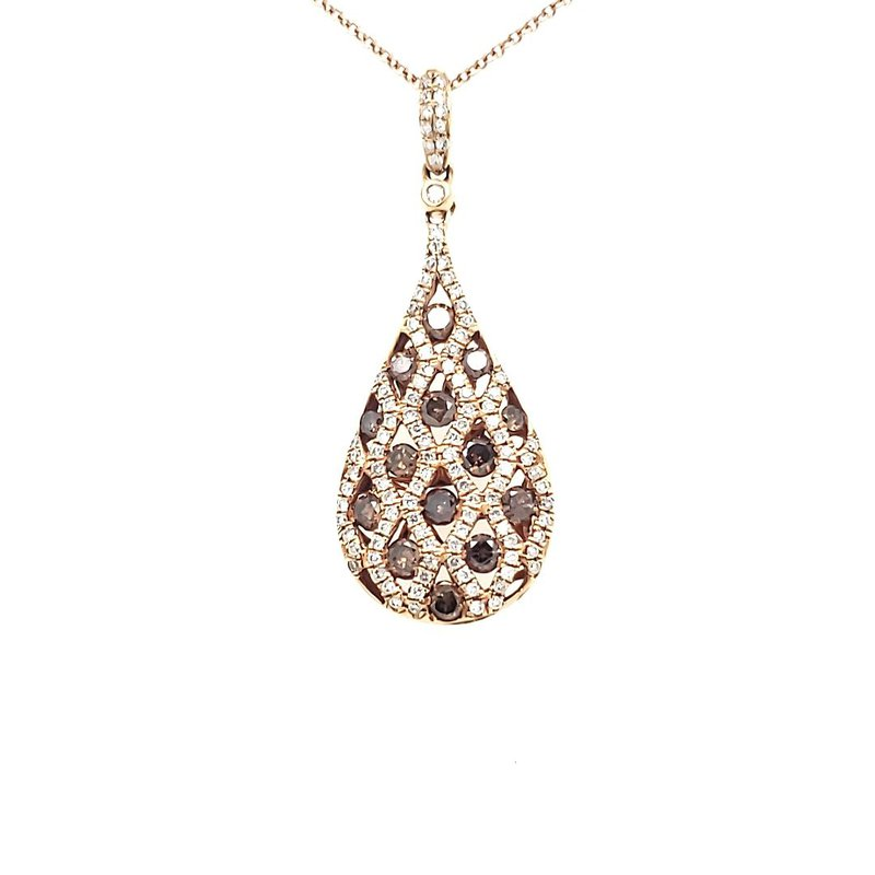 Sartor Hamann Closeouts Champagne Diamond Pendant