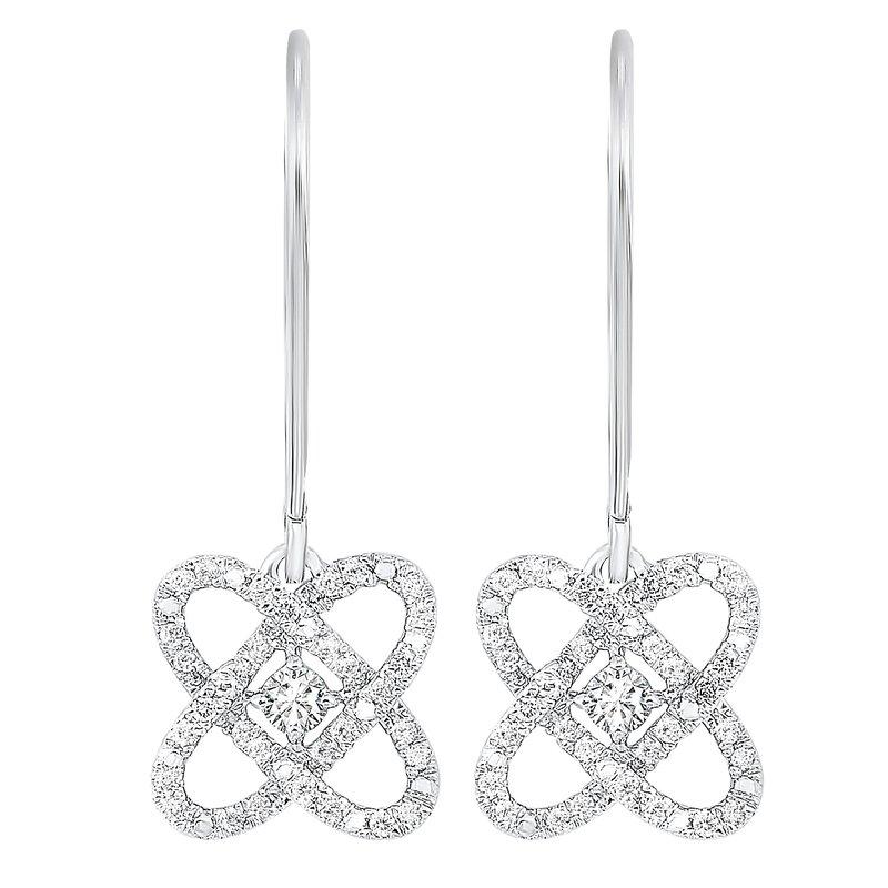 Sartor Hamann Signature Silver Diamond Drop Earrings