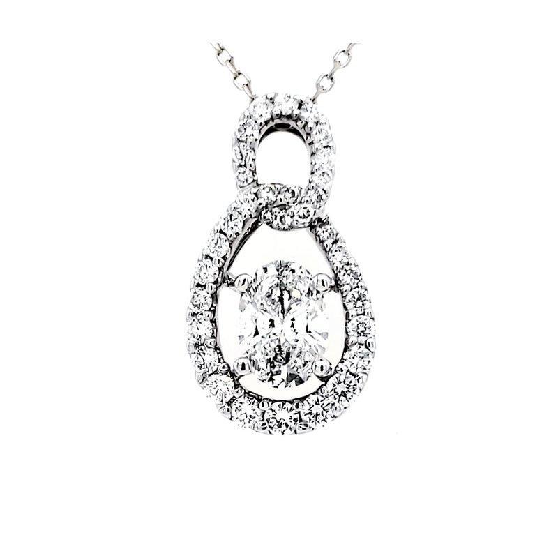 Estate Collection Oval Diamond Pendant
