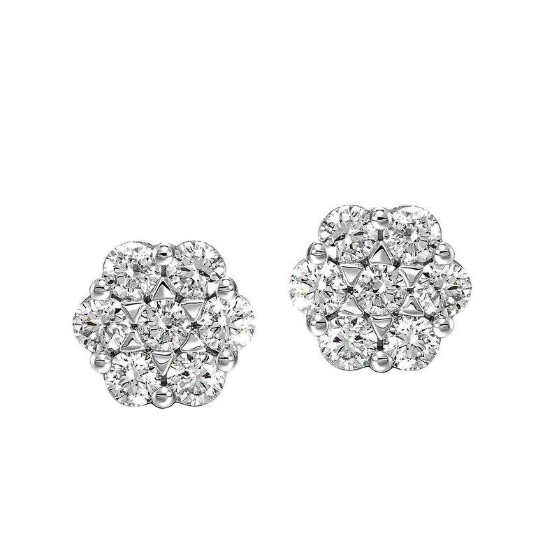 Sartor Hamann Signature Diamond Cluster Earrings