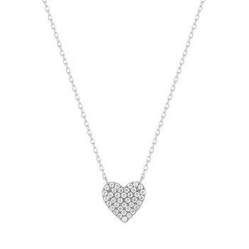 Elsie Diamond Pave Heart Necklace