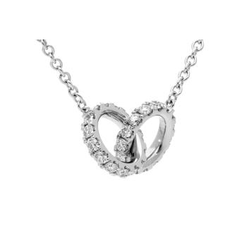 Hearts on Fire Classic Diamond Interlocking Pendant