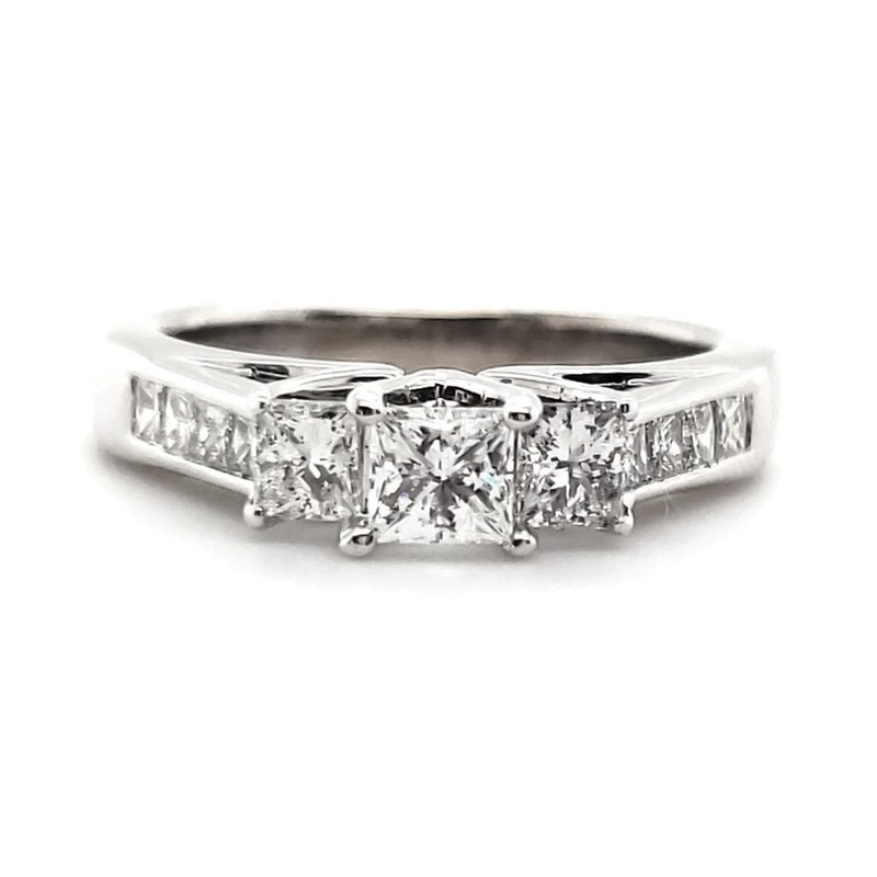 Estate Collection Princess Cut Three Stone Ring