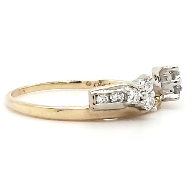 Estate Collection Diamond Jacket Wedding Ring