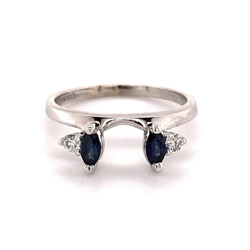 Estate Collection Sapphire and Diamond Wrap