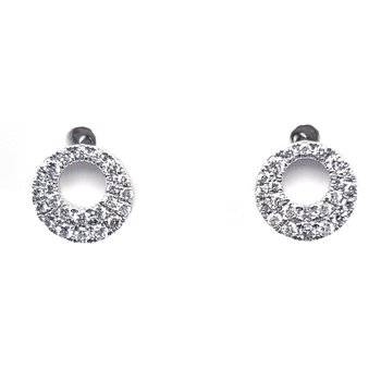 Open Circle Diamonds Studs