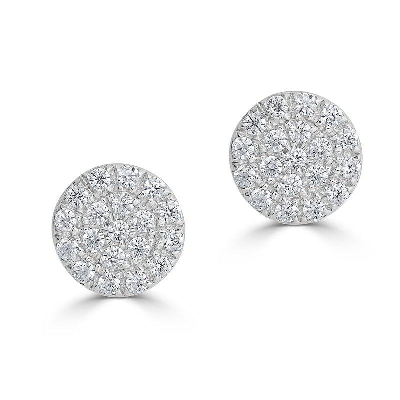 Sartor Hamann Signature Diamond Disc Earrings