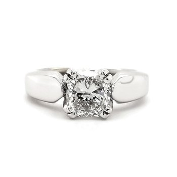 1.50 CT Cushion Shape Solitaire