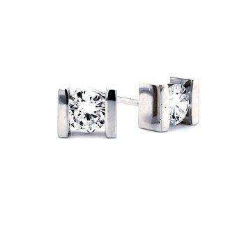 Bar-Set Diamond Earrings