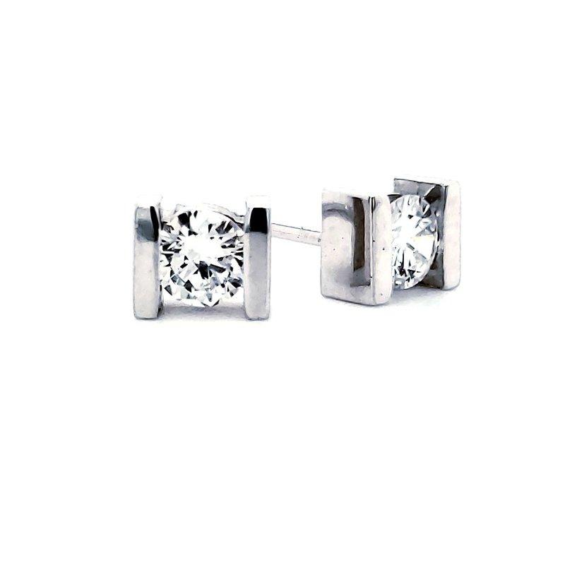 Sartor Hamann Signature Bar-Set Diamond Earrings