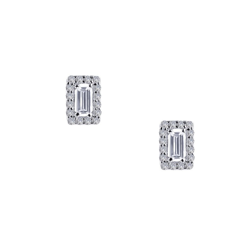 Sartor Hamann Signature Lafonn Sterling Silver Halo Stud Earrings