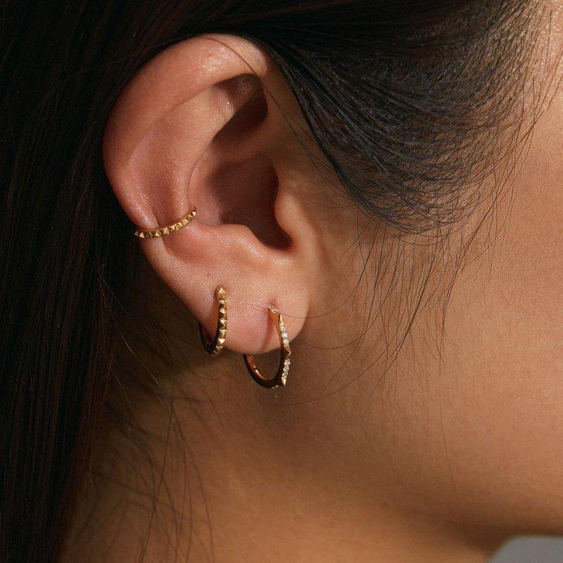 Aurelie Gi Maili Grooved Yellow Gold Ear Cuff