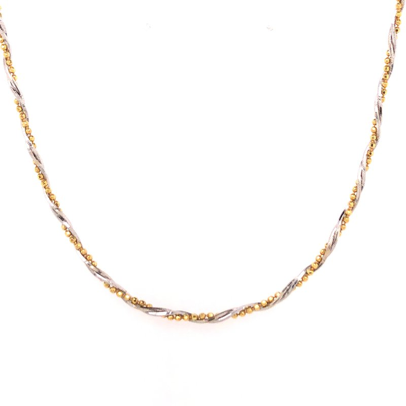 Estate Collection Two Tone Bead Necklace