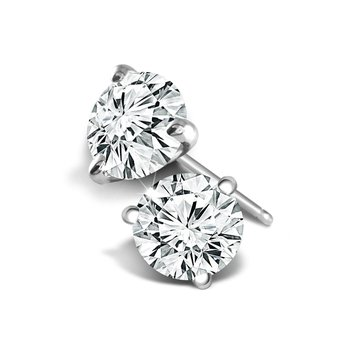 1.21 CT T.W. Diamond Stud Earrings - Superior Quality