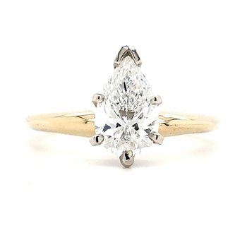 1.25 CT Pear Shape Solitaire
