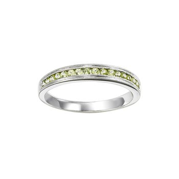 Peridot Mixable Birthstone Rings in 4 Styles