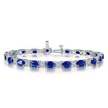 Lafonn Sterling Silver Lab-Created Sapphire Bracelet