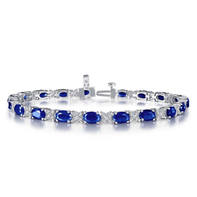 Sartor Hamann Signature Lafonn Sterling Silver Lab-Created Sapphire Bracelet