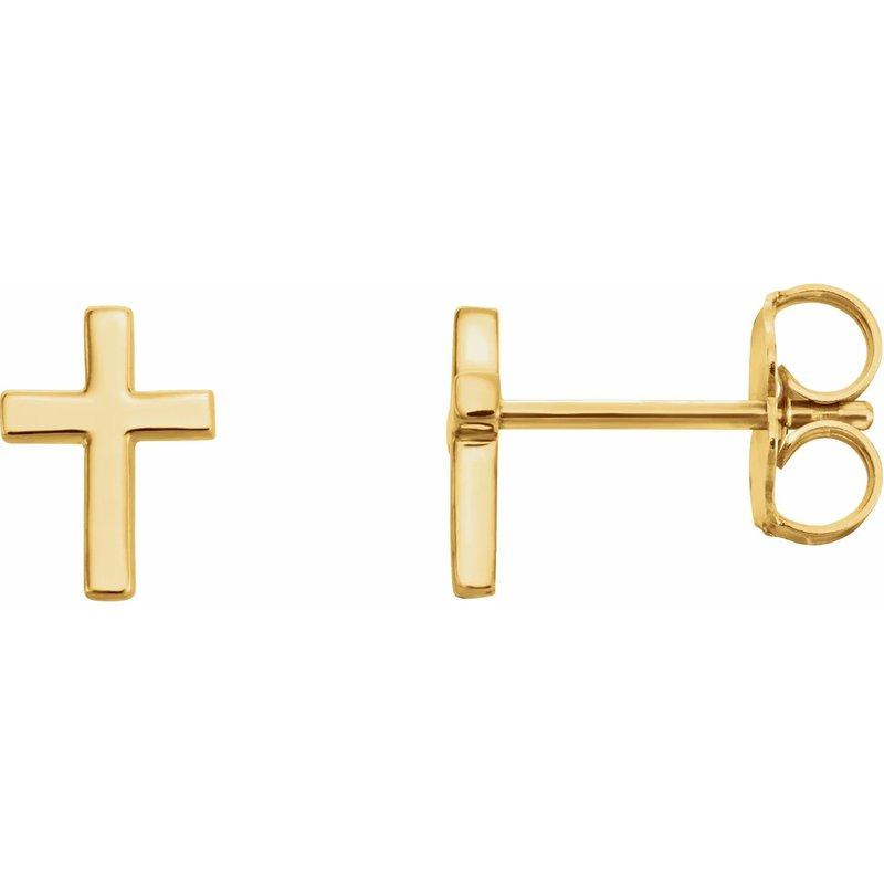 Sartor Hamann Signature 14K Yellow Gold Cross Earrings
