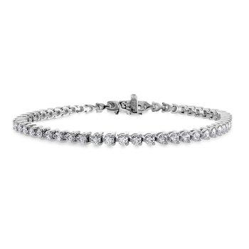 Hearts on Fire 3-prong Tennis Bracelet