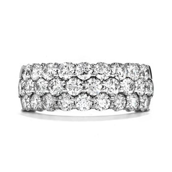 3 Row Anniversary Band in 2 Carat Weights