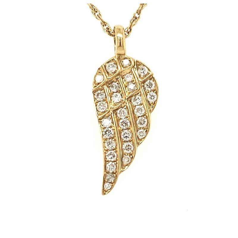 Estate Collection Diamond Angel Wing Pendant