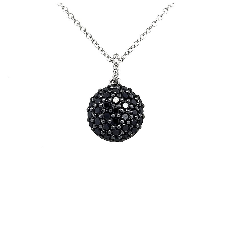 Sartor Hamann Closeouts Black Diamond Cluster Pendant