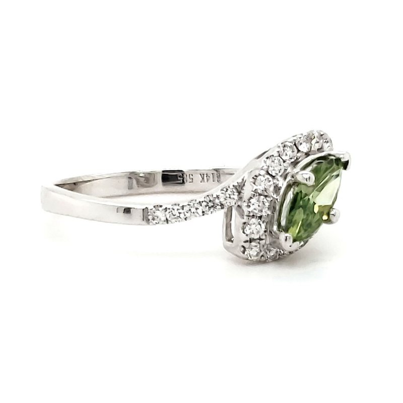 Sartor Hamann Bridal Green Marquise Diamond Ring