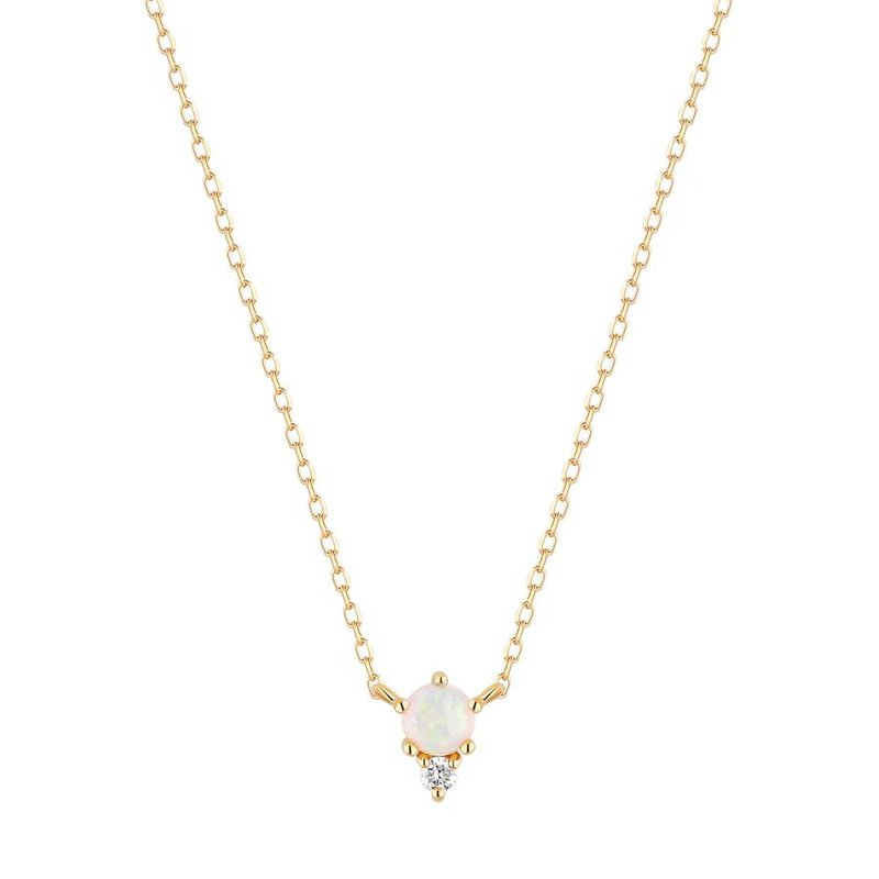 Aurelie Gi Zena Opal and Diamond Necklace