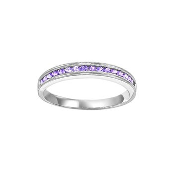 Created Alexandrite Mixable Birthstone Rings in 4 Styles