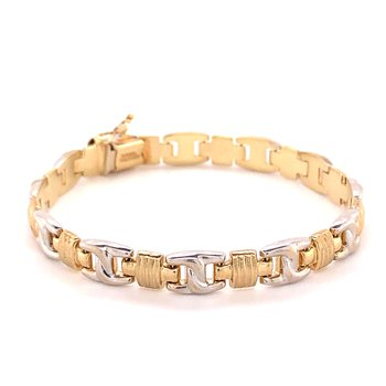 Two Tone Gold Fashion Bracelet