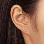 Aurelie Gi Venus SINGLE Opal and Diamond Stud
