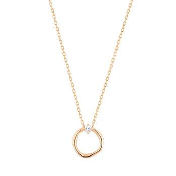 Lillian Diamond Circle Necklace